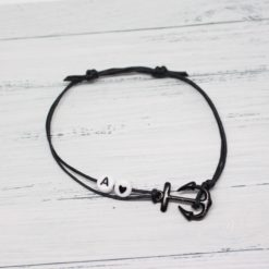 Anker Armband Schwarz – AVENUE BRACELET